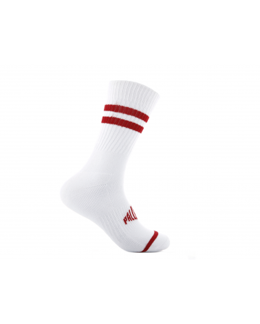 SKARPETY MĘSKIE Sport crew-WHITE/RED